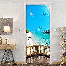 ADYNL 3D Door Mural Wallpaper For Living Room Kids