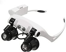 aedouqhr Magnifier Set,10X 15X 20X 25X Headband