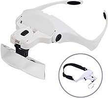 aedouqhr Magnifier with LED Light Hands Free