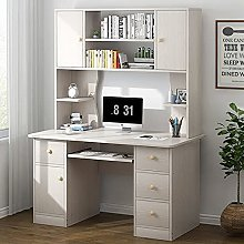 AEF Wood Computer Desk with Drawer, Home Office