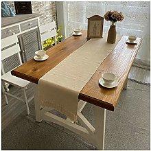 Aeici Cotton Linen Table Runner Long, Simple Plain