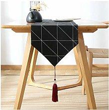 Aeici Cotton Table Runner Modern, Modern Simple
