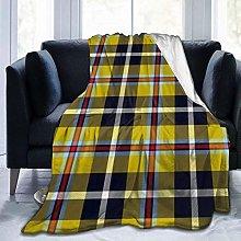 AEMAPE Cornish National Tartan Cooler Yellow Throw