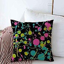 AEMAPE Throw Pillow Covers Yellow Paint Design