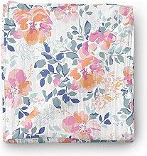 Aenne Baby Girl Rose Muslin Swaddle Blanket Floral