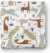 Aenne Baby Safari Animals Muslin Swaddle Blanket