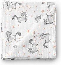 Aenne Baby Unicorn Star Muslin Swaddle Blanket