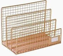 AERVEAL Simple Metal Bookshelf Desktop Grid