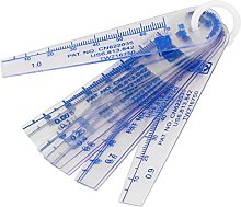 Aexit 0.05-1mm Thickness Plastic Feeler Gauge Gap