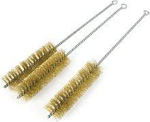 Aexit 3 Pcs 35mm Diameter Brass Wire Tube Brush