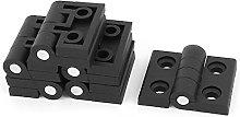 Aexit 6 Pcs Black Plastic Foldable Cabinet