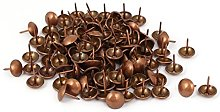 Aexit Metal Upholstery Tack Push Nail Copper Tone
