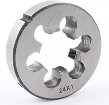 Aexit Steel 12mm Thickness Metric M24 x 1 Screw