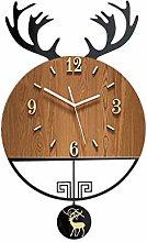 Afairy Modern Wall Clocks Pendulum Wall Clock With
