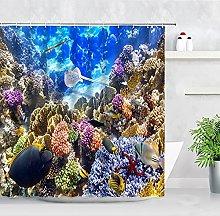 AFDSJJDK bath towel landscape shower curtain