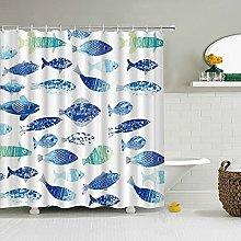 AFDSJJDK shower curtain blue 3D Shower Curtains