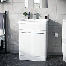 Afern 600mm Vanity Unit Cabinet and Wash Basin