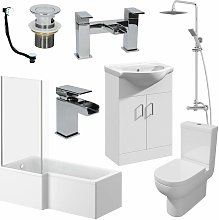 Affine - 1500mm LH L Shaped Bathroom Suite Bath
