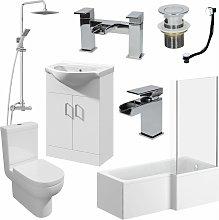 Affine - 1600mm RH L Shaped Bathroom Suite Bath