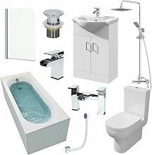 Affine - 1700mm Single Ended Bathroom Suite Bath