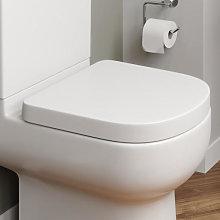 Affine Oceane Soft Close D Shape White Toilet Seat