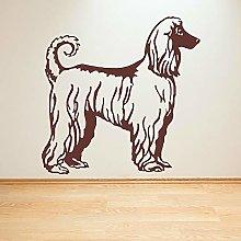 Afghan Hound Dog Wall Art Sticker Animal Dog Door