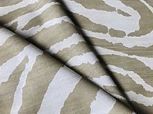 African Beige & Cream Zebra Stripes Print Linen