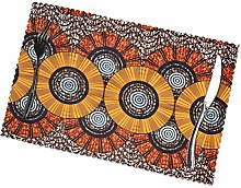 African Print Fabrics Placemats for Dining Table