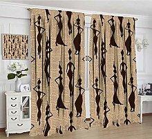 African Room Darking Curtains, Modern Pattern with
