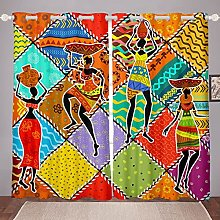 African Woman Curtain for Bedroom Children African