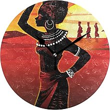 African Woman with Crock Above Head Texture