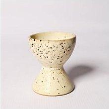 Afroart - Black & White Splatter Egg Cup
