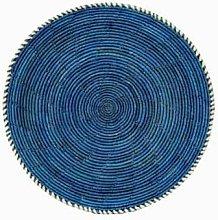 Afroart - Blue Spice Natural Flat Bread Basket -