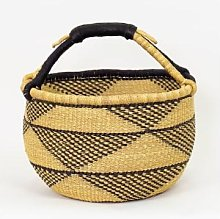 Afroart - Bolga Triangle Basket Natural/Dark Blue