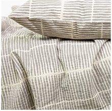 Afroart - Grey White Lemongrass Bedcover 160 x
