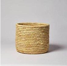 Afroart - Handmade Solid-Weave Palm Basket - Small