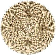 Afroart - Medium White Sene Bread Basket - White