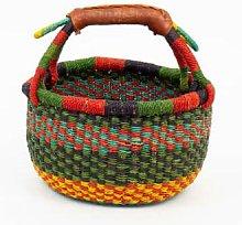 Afroart - Minibolga Basket, Multicolored Green/Red
