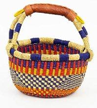 Afroart - Minibolga Basket Red/Blue/Green/Nature -