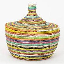 Afroart - Multicolored Sene Basket with Lid -