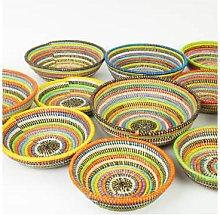 Afroart - Multicolored Small Sene Bread Basket -