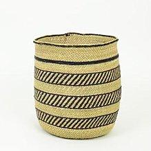 Afroart - Natural/black Iringa Rund Basket, Large