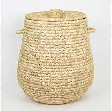 Afroart - Natural Palm Edit Laundry Basket - about