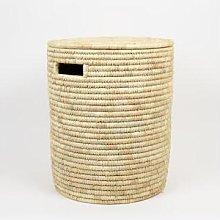 Afroart - Natural Palm Laundry Basket Large Size -