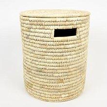 Afroart - Natural Palm Laundry Basket Small Size -