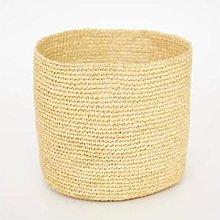 Afroart - Natural Raffia Basket, Medium Size -