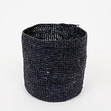 Afroart - Small Black Raffia basket - Ø 13.5 cm |