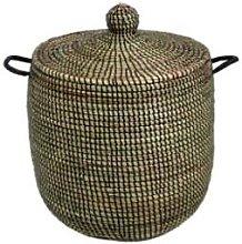 Afroart - Small Black Sene Laundry Basket - about