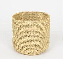 Afroart - Small Natural Raffia Basket - Height 15