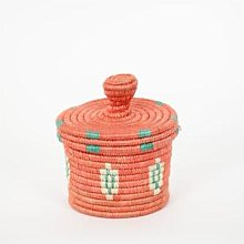 Afroart - Small Patterned Top Basket - Fair Trade